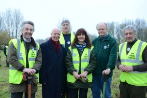 Tree planting at Longitude Wood, with John Harrison Foundation, November 2014