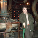 On the Dr Who TARDIS stage set at Cardiff Studios, November 2014